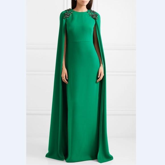 79e87092a9a Emerald Marchesa Notte Cape Gown